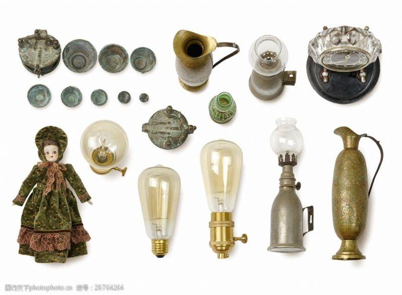 古董杯子茶杯燈罩玻璃俯視圖茶具洋娃娃