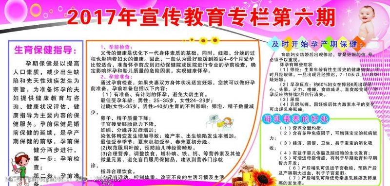 孕前优生检查健康教育宣传栏第6期
