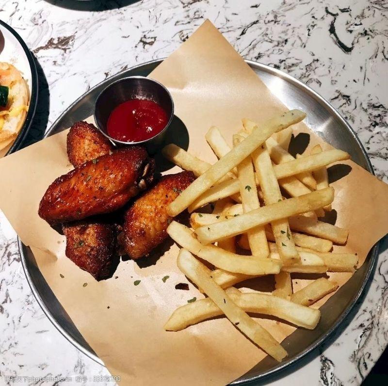 下午茶薯條雞翼