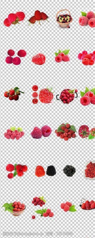 覆盆子新鮮水果紅色覆盆子素材
