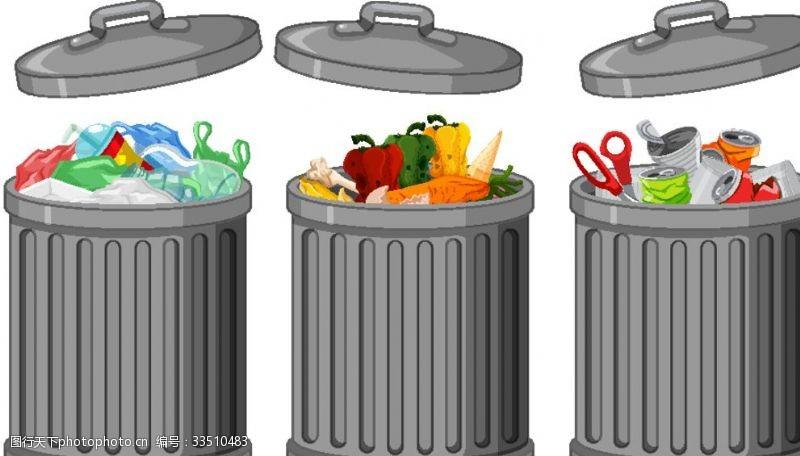 动漫动画垃圾桶