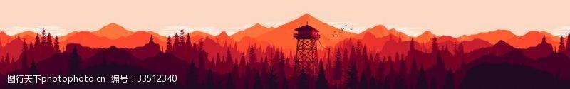 动漫动画红色群山