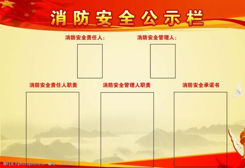展板模板消防安全公示欄