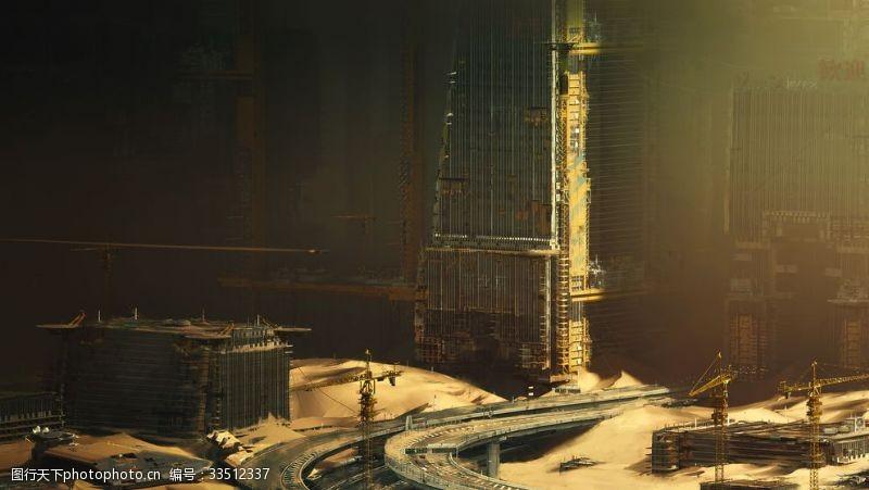 动漫动画废弃的城市