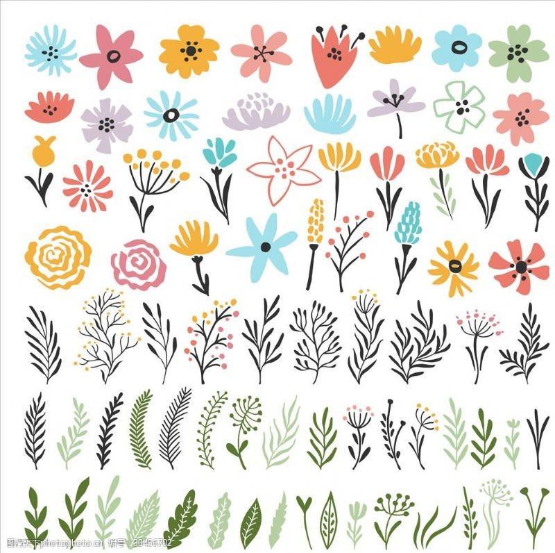 花环卡通鲜花
