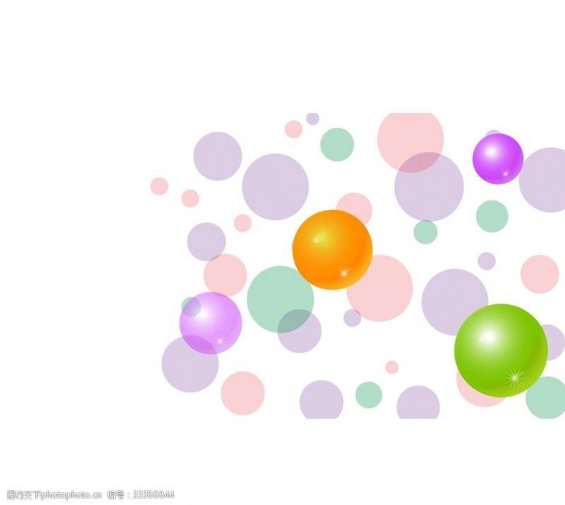 氣泡背景彩色泡泡