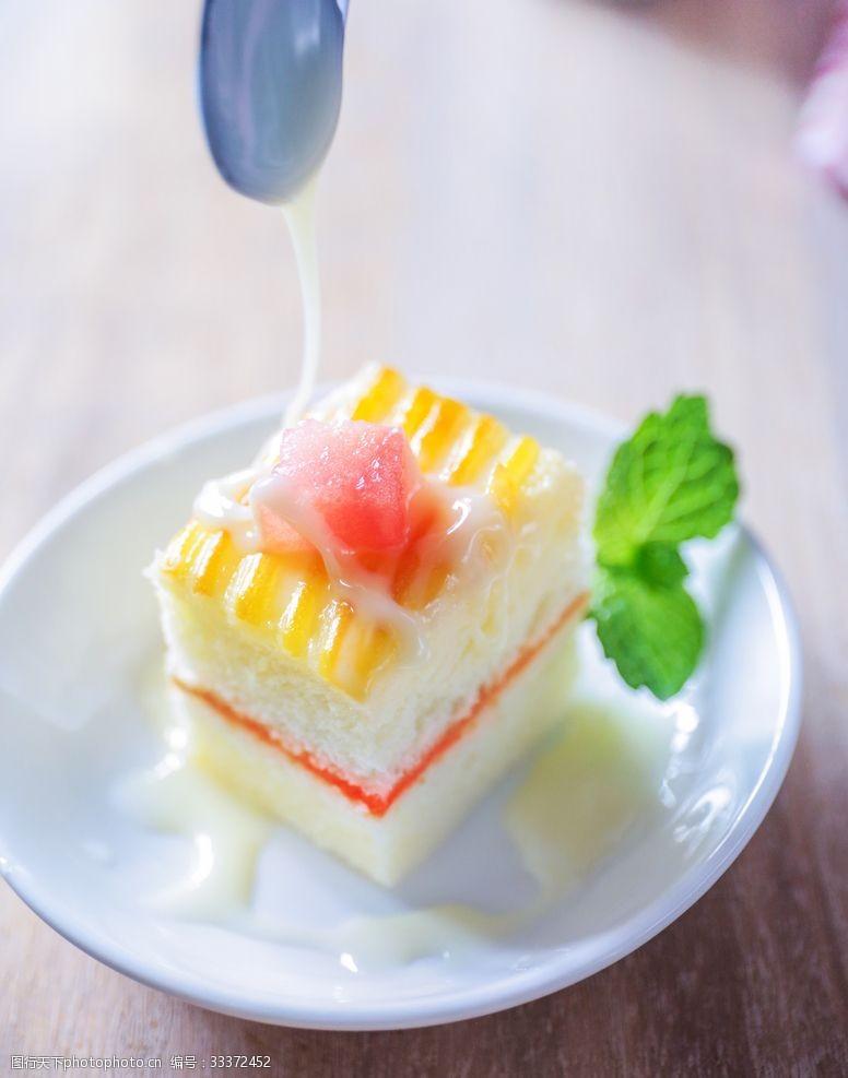 下午茶奶油蛋糕