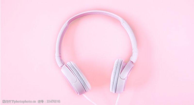 数码产品白色耳机