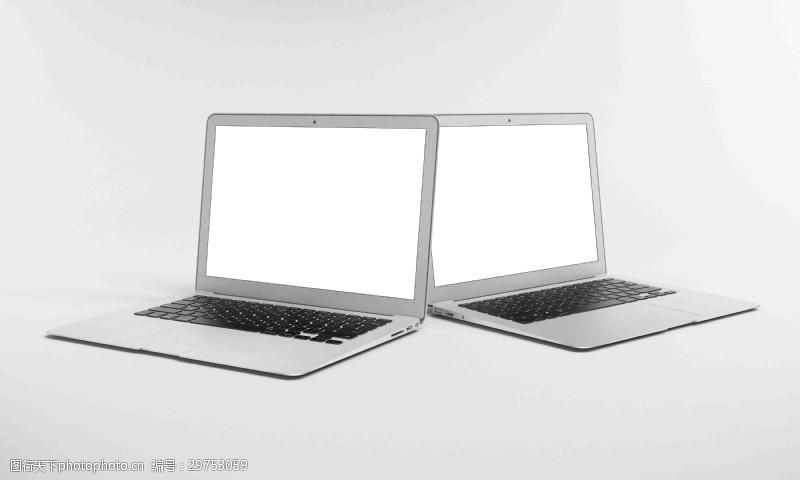 蘋果筆記本高清雙角度網頁素材樣機展示