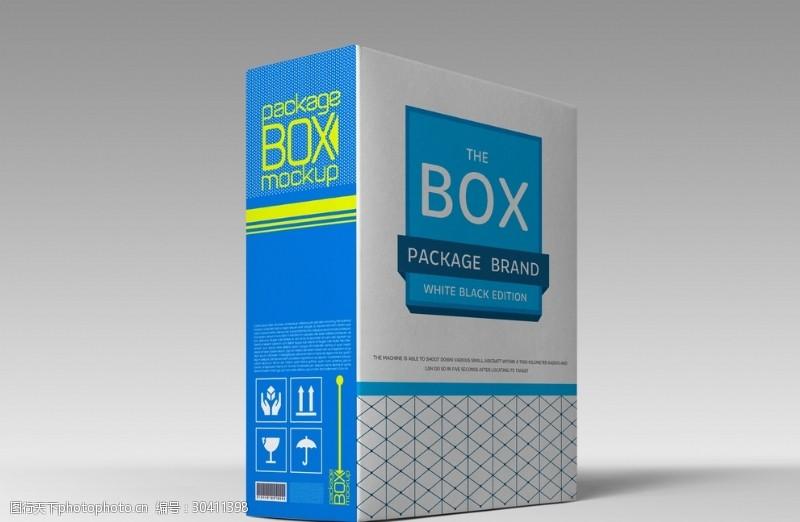 包裝盒樣機展示素材
