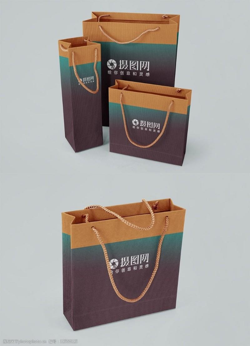 整套購物袋包裝樣機展示