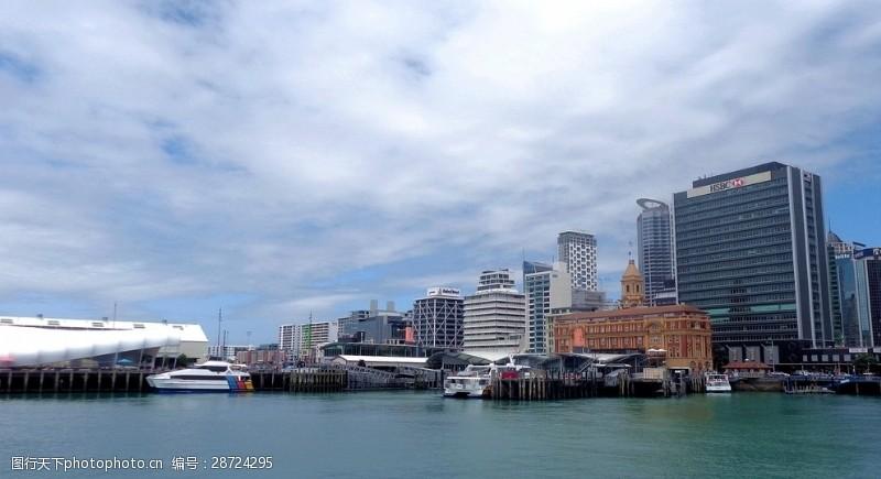 奥克兰港码头风光图片
