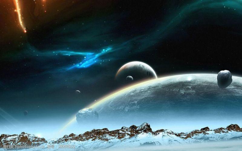 大气宇宙地表背景图片