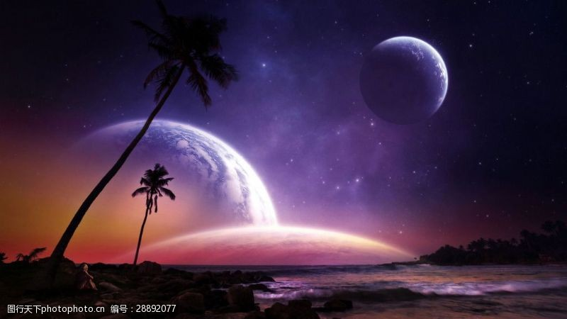 大气宇宙地表背景