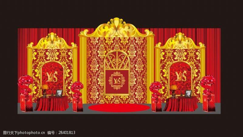 红金欧式迎宾区金色欧式迎宾区