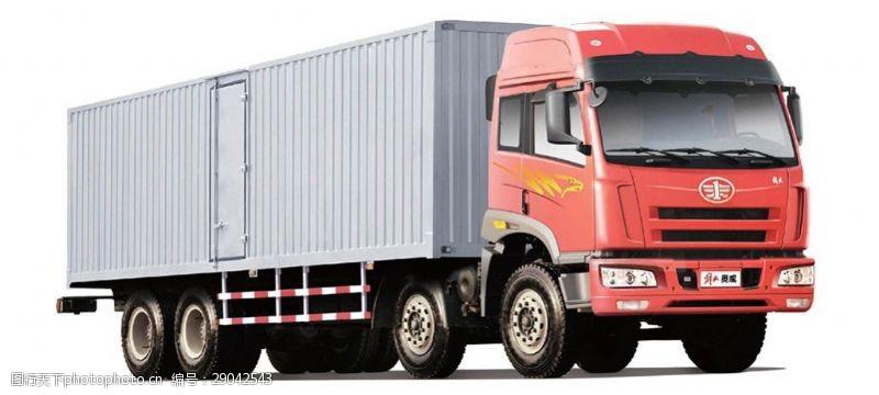 货车模板红色载重卡车免抠png透明图层素材