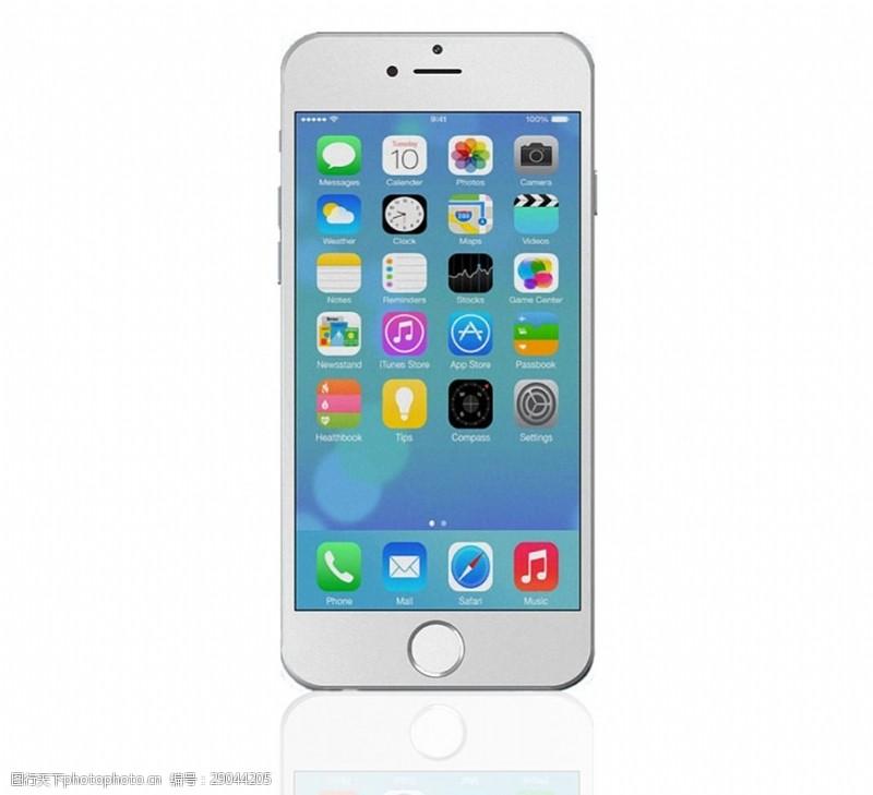 手机图片素材漂亮白色苹果手机免抠png透明素材