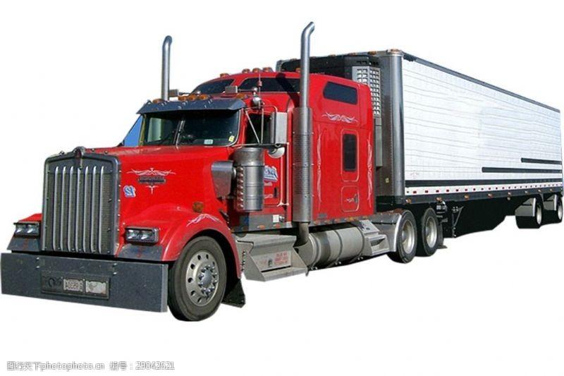 货车模板红色高级载重卡车免抠png透明图层素材