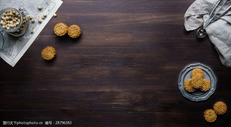 视觉效果设计美食背景俯视图