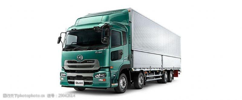 货车模板绿色漂亮载重卡车免抠png透明图层素材