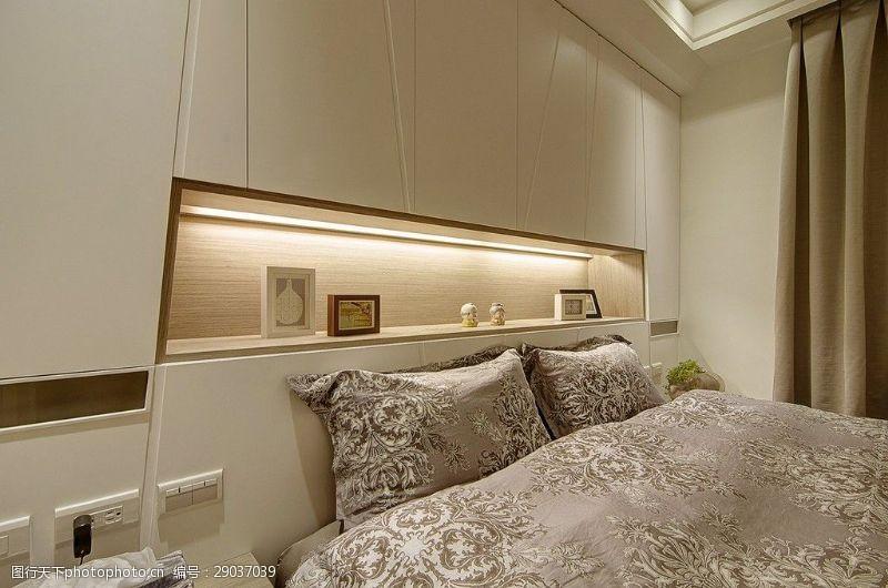 卧室床花纹效果图