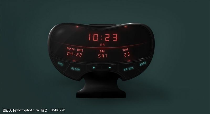 电子钟现代感异性时钟PSD素材