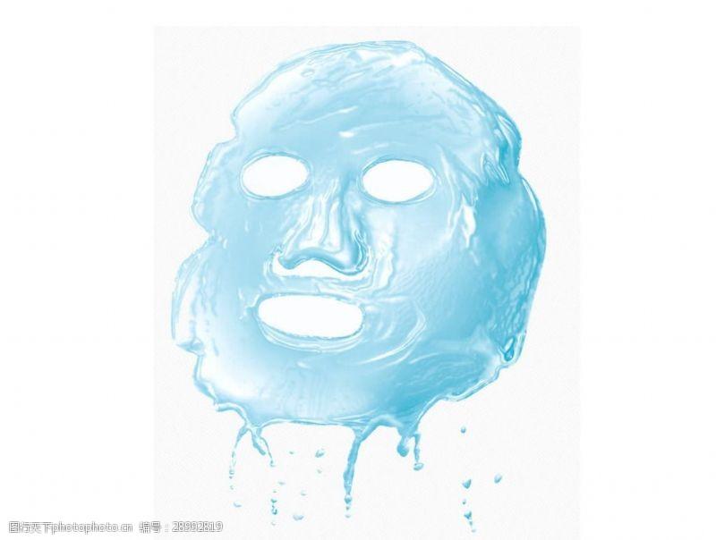补水面膜面膜蓝色面膜