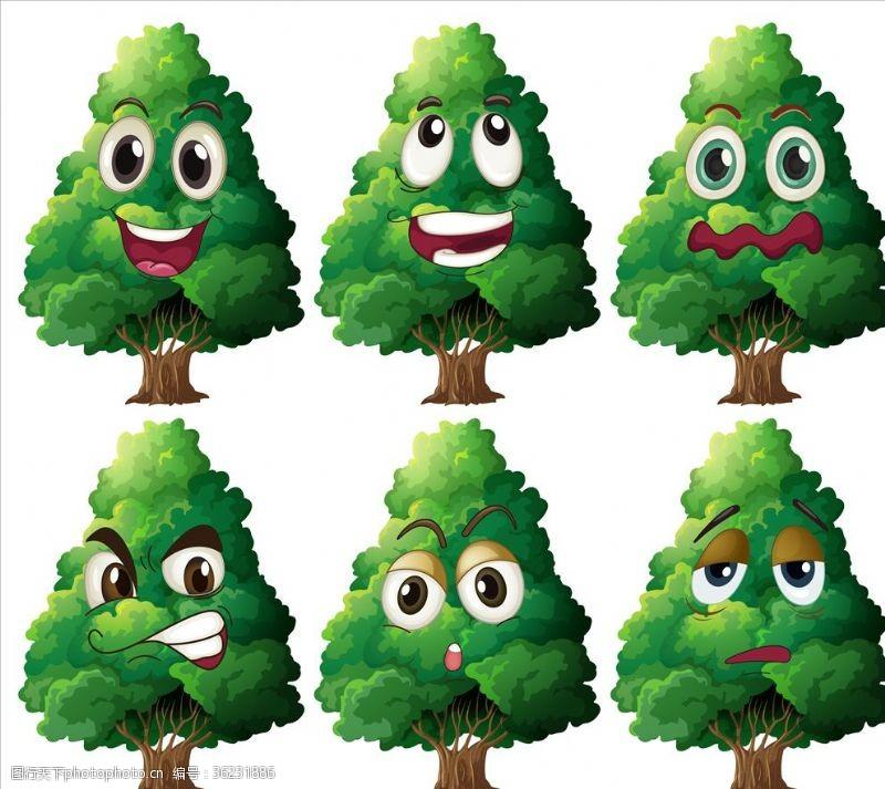 卡通树表情树表情