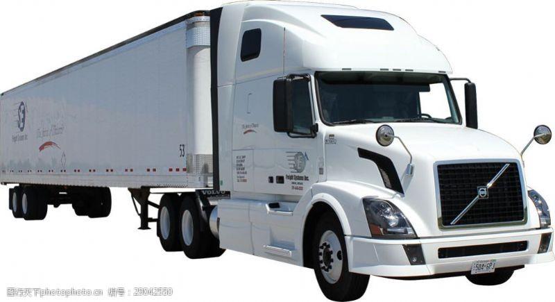 货车模板白色厢式载重卡车免抠png透明图层素材