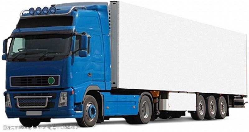 货车模板蓝色载重火车免抠png透明图层素材