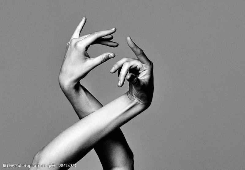 手造型舞蹈手势手臂