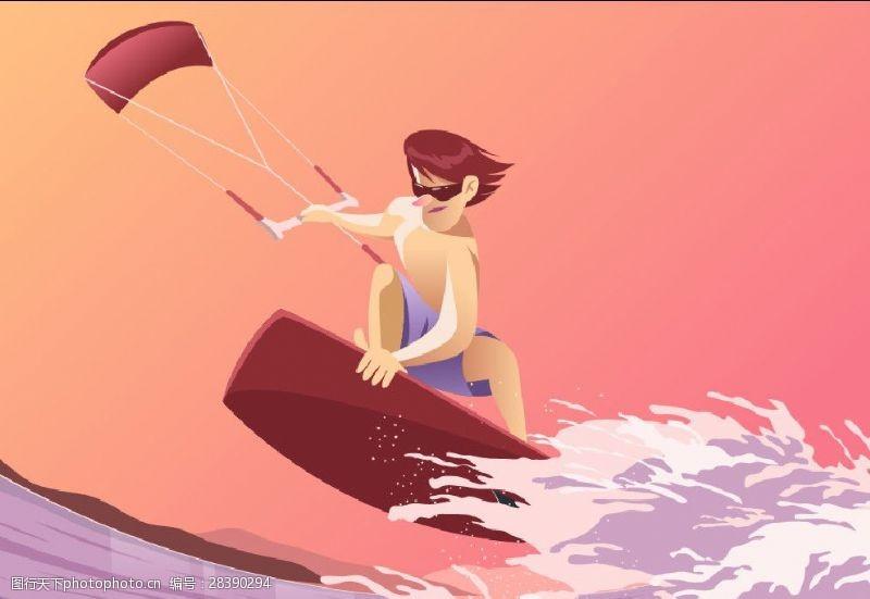 海上冲浪者冲浪