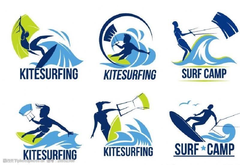海上冲浪者冲浪图标