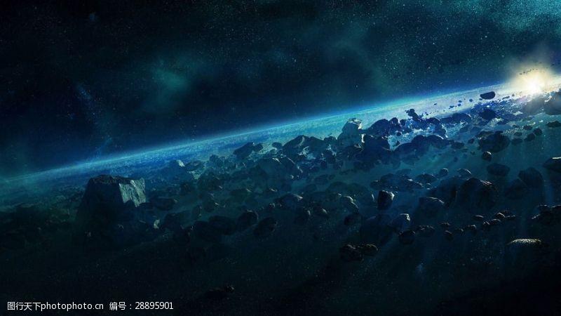 大气宇宙地表背景手抄报