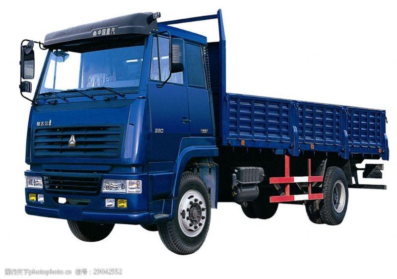 货车模板蓝色大型载重卡车免抠png透明图层素材
