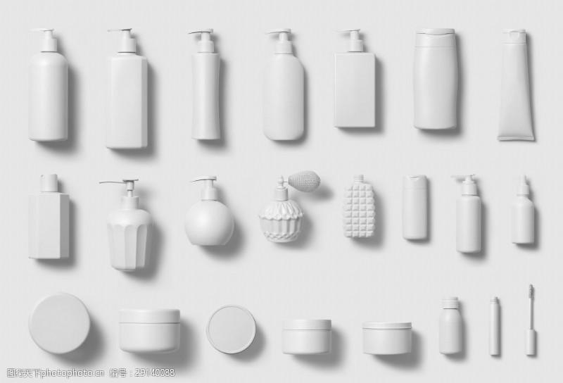 各种化妆品容器实物图