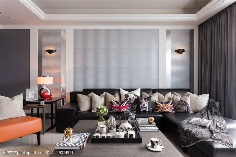 欧式客厅沙发花纹效果图