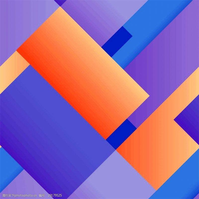 几何名片模板紫色几何背景图片