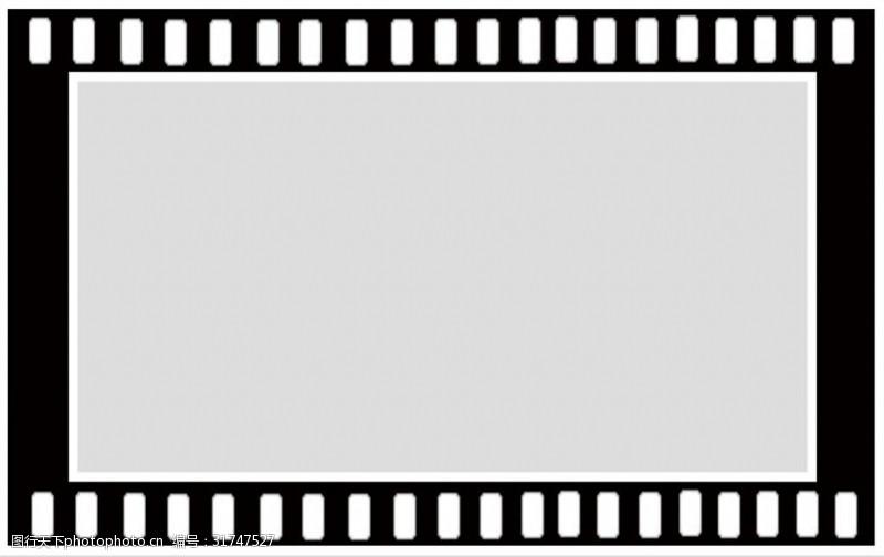 方形电影胶片背景免抠psd透明素材