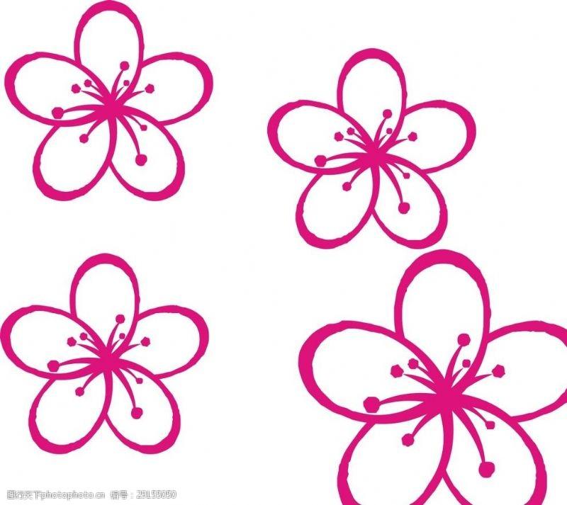 五叶草花朵