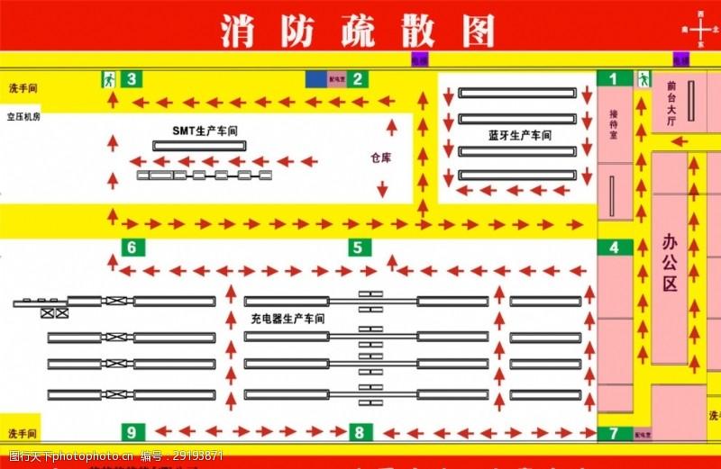 紧急疏散图消防图