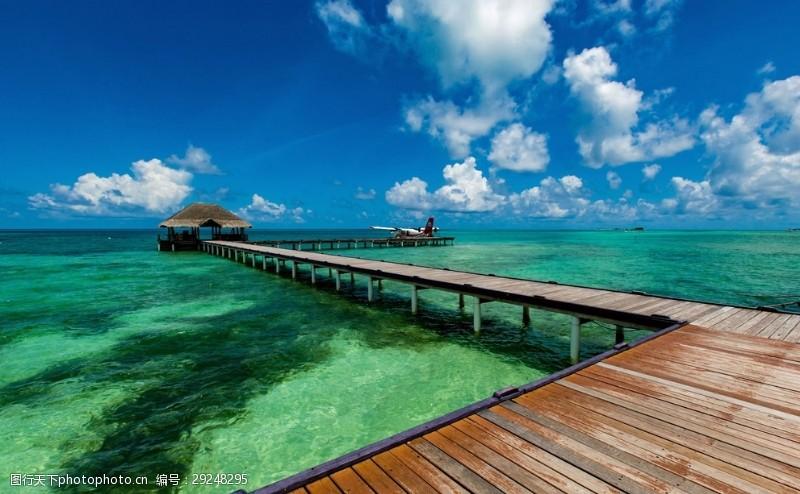 碧绿的海水马尔代夫