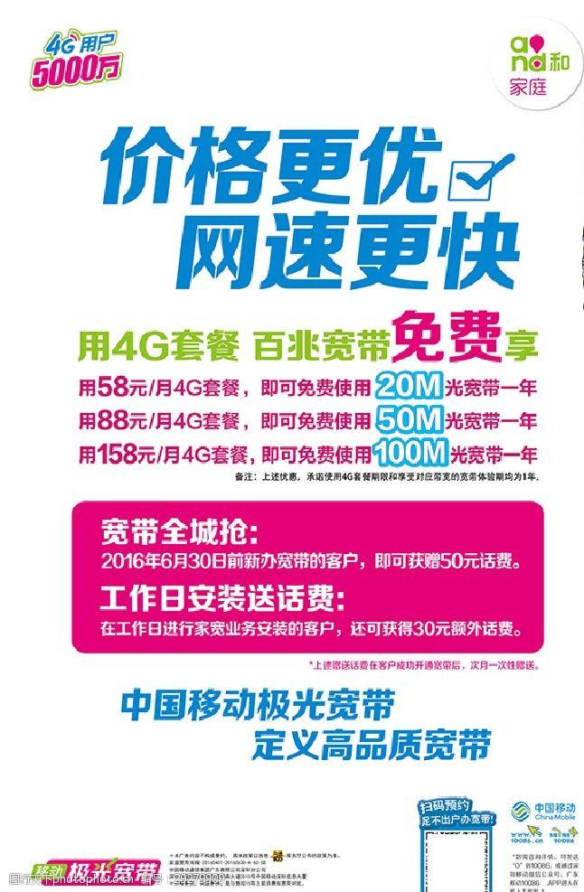 彩信家庭宽带-海报