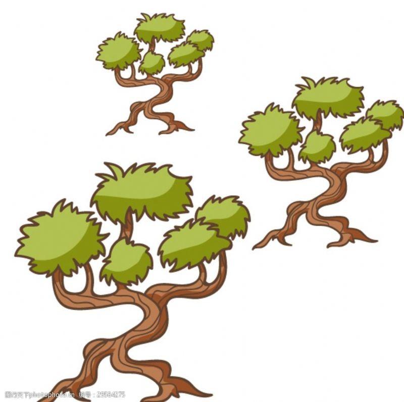 卡通树表情抽象树
