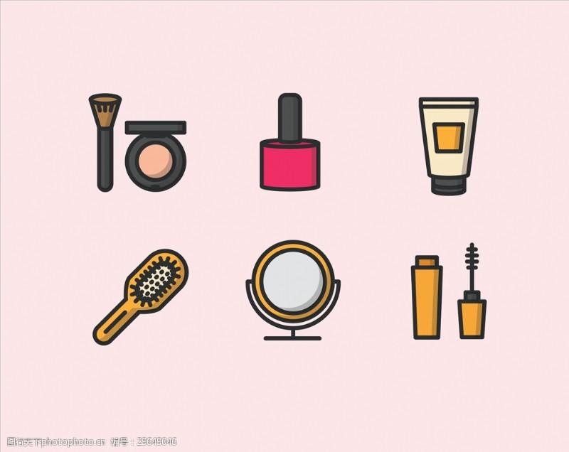 彩妆化妆品矢量素材