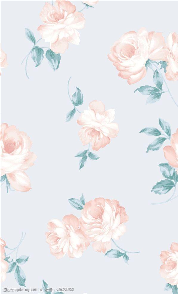 矢量图案共享女装植物花卉大花朵