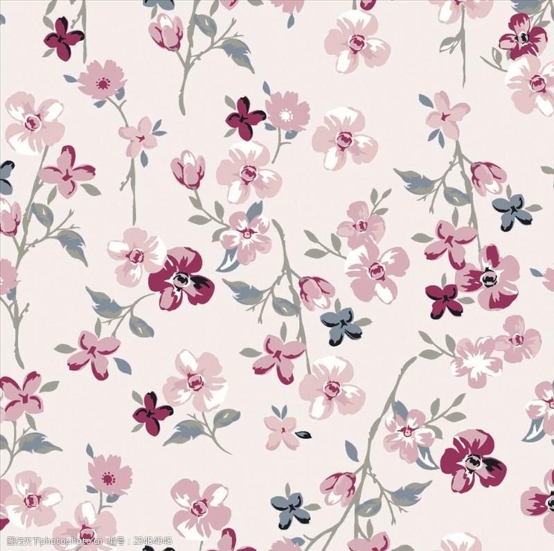 矢量图案共享女装植物花卉小花朵