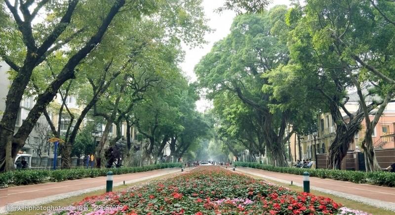 广州沙面主街道风景拍摄