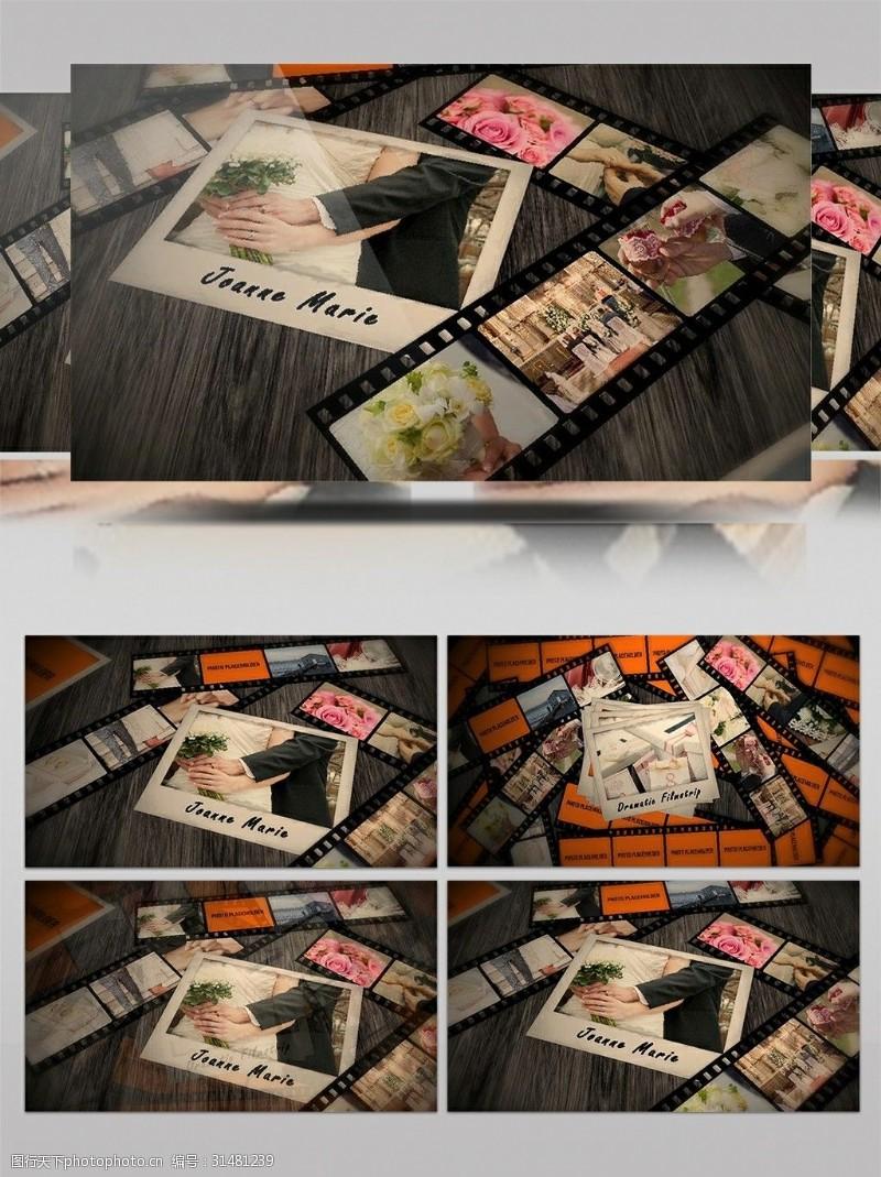 电影素材电影胶片效果包装图像展示ae模板