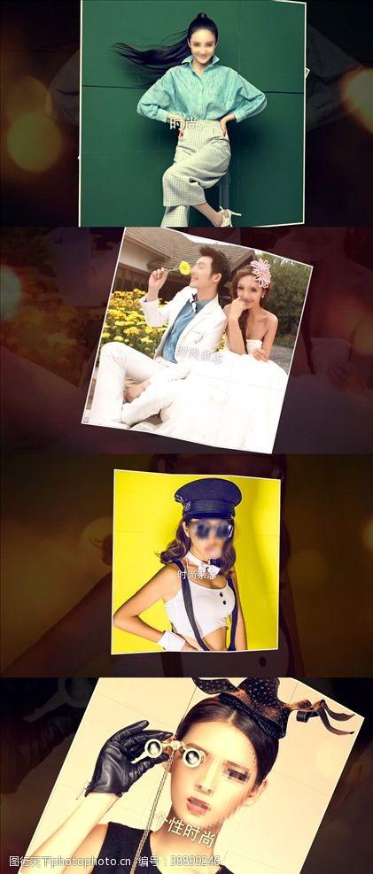 写真模板时尚写真杂志宣传AE模板